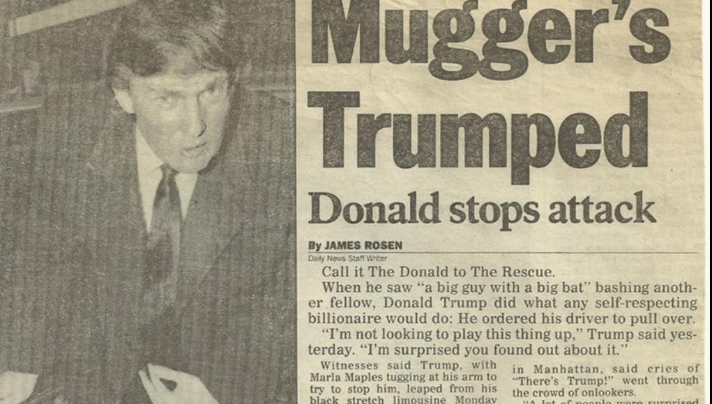 Mugger' s Trumped - Donald stops attack