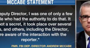 Andrew McCabe über die Weiterleitung von Informationen an die Presse - Quelle: Videoausschnitt