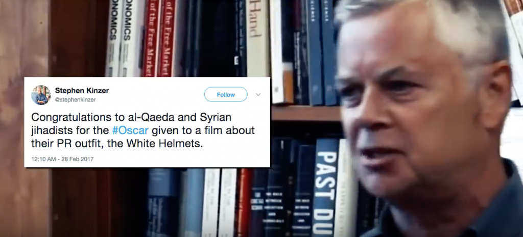 Congratulations to al-Qaeda and Syrian jihadists for the Oscar about their PR outfit, the White Helmets