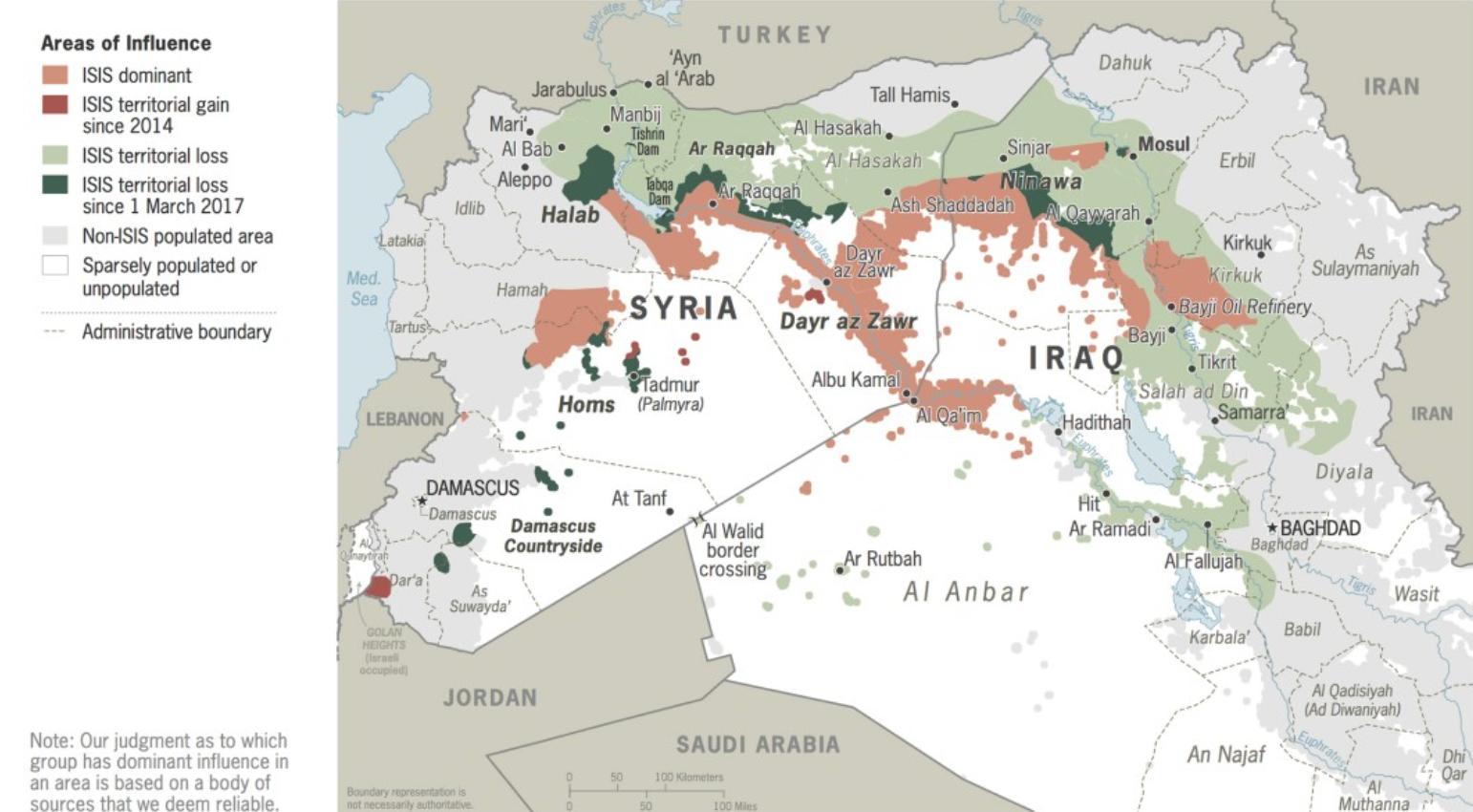 ISIS Territorium vor Trump