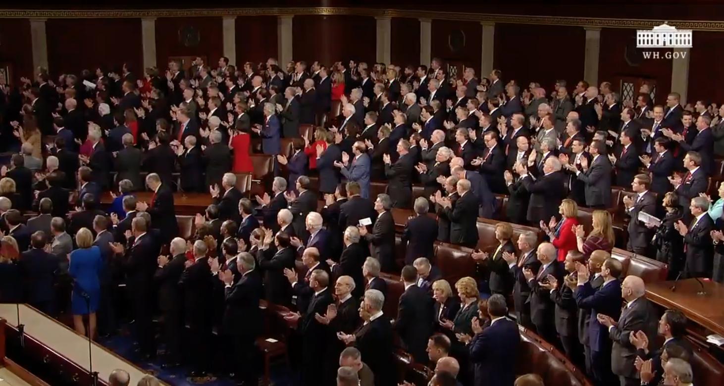 Präsident Trump SOTU standing ovations Foto: Weißes Haus