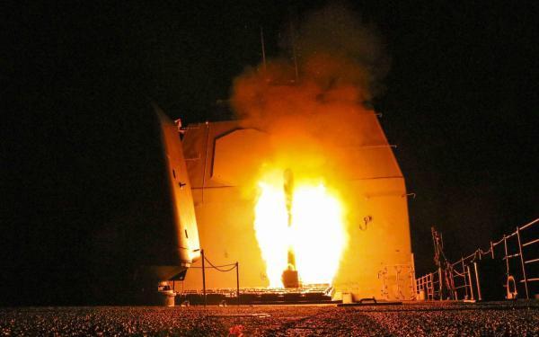 Luftangriff der Amerikaner auf Syrien Foto:CC US-Navy