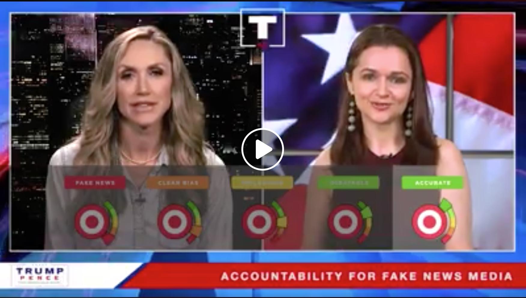 5-Punkte-Skala zur Beurteilung von Zeitungsartikeln und Fake News Foto Trump Real News