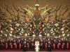Diese monumentale Figur einer Skulptur im Vatikan stellt angeblich Christus dar
