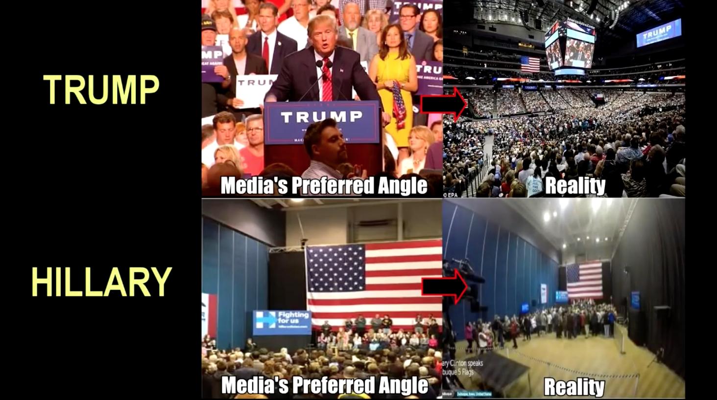 Donald Trump und Hillary Clinton Besucher bei Wahlkampfveranstaltungen 2018 Foto YouTube