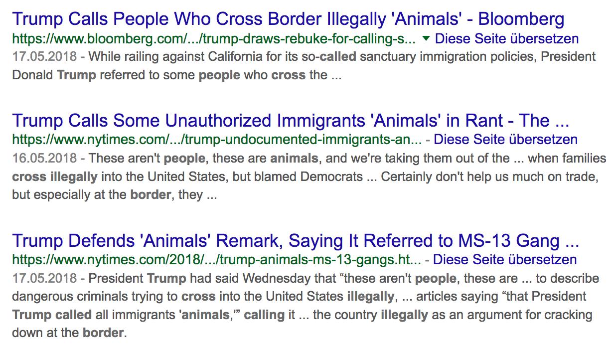 Irreführende Beiträge von Boomberg und NYTimes Foto Google