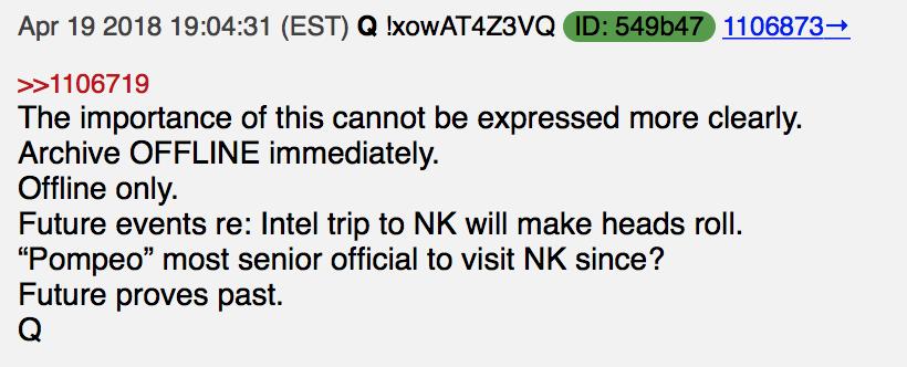 Nach dem Trip nach Nordkorea werden die Köpfe rollen Foto qanon.pub