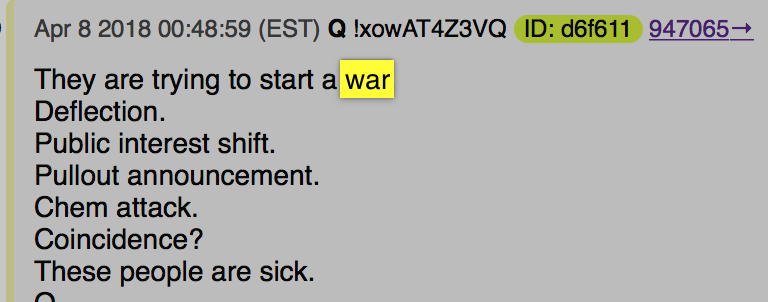Q Anon They are trying to start a war 8 April 18 Foto qanon.pub