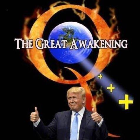 Q and Trump - The great awakening movement Meme
