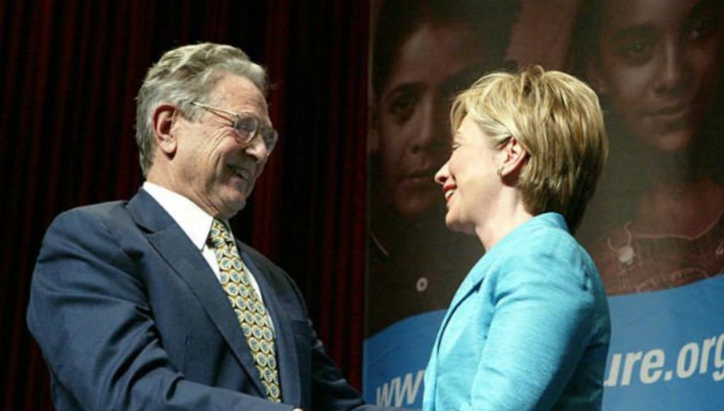 Soros und Clinton Foto qanon.pub