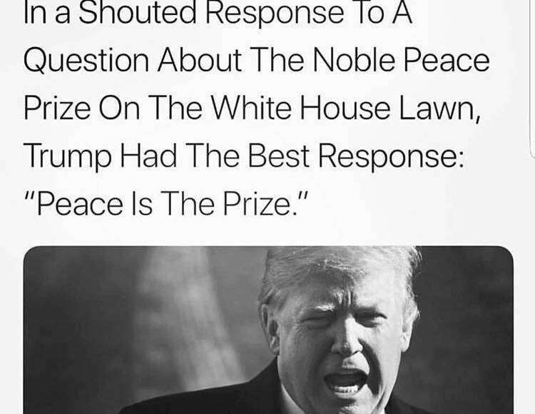 Trump - Peace is the price Meme