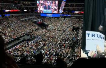 Trump Wahlkampfveranstaltung 2016 Foto YouTube
