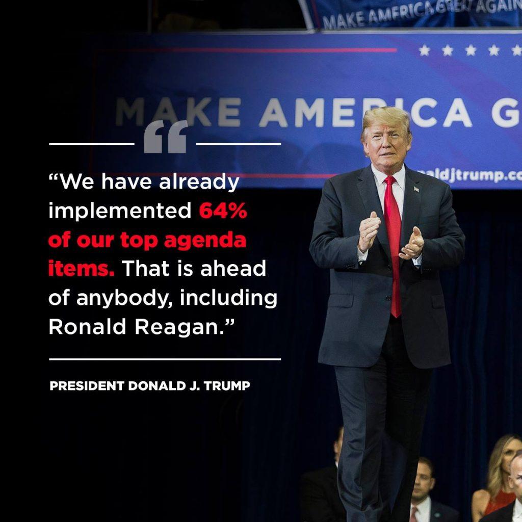 64 Prozent unserer wichtigsten Themen haben wir bereits umgesetzt Foto Donald J. Trump