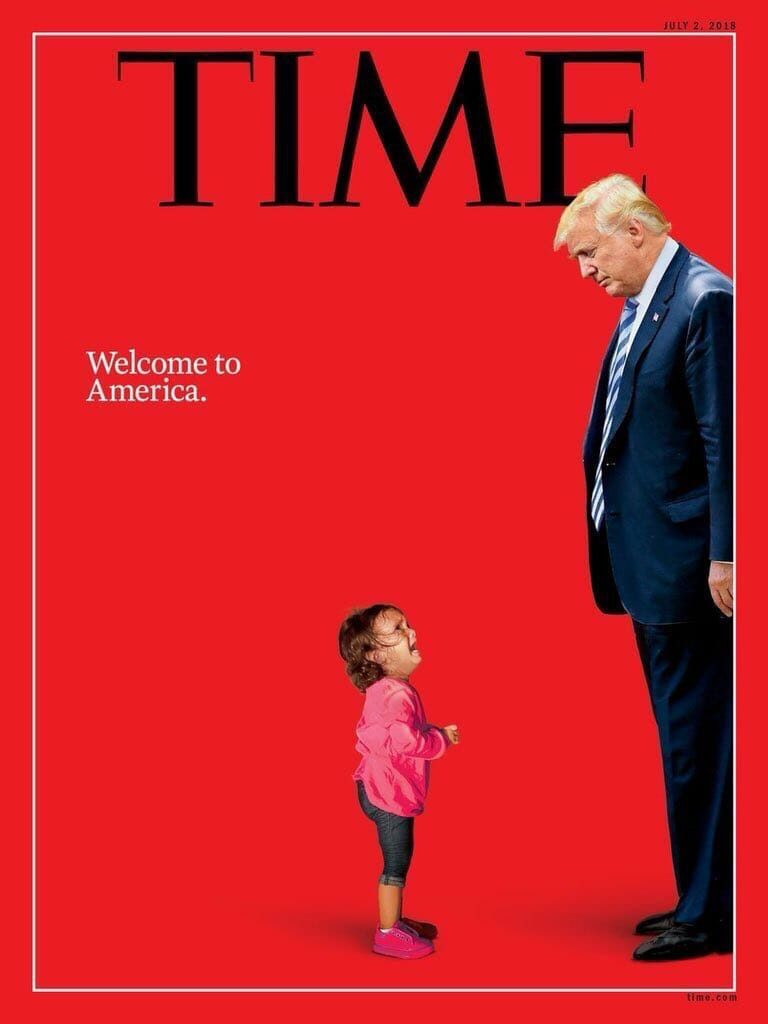 Time cover mit weinendem Kind aus Honduras