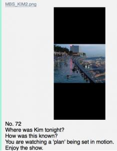 Foto verweist auf Kims Ausflug, eventuell aufgenommen von Q Foto qanon.pub