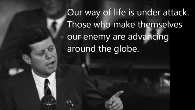 Unsere Lebensweise wird angegriffen. Diejenigen, die sich zu unserem Feind machen, sind weltweit auf dem Vormarsch.