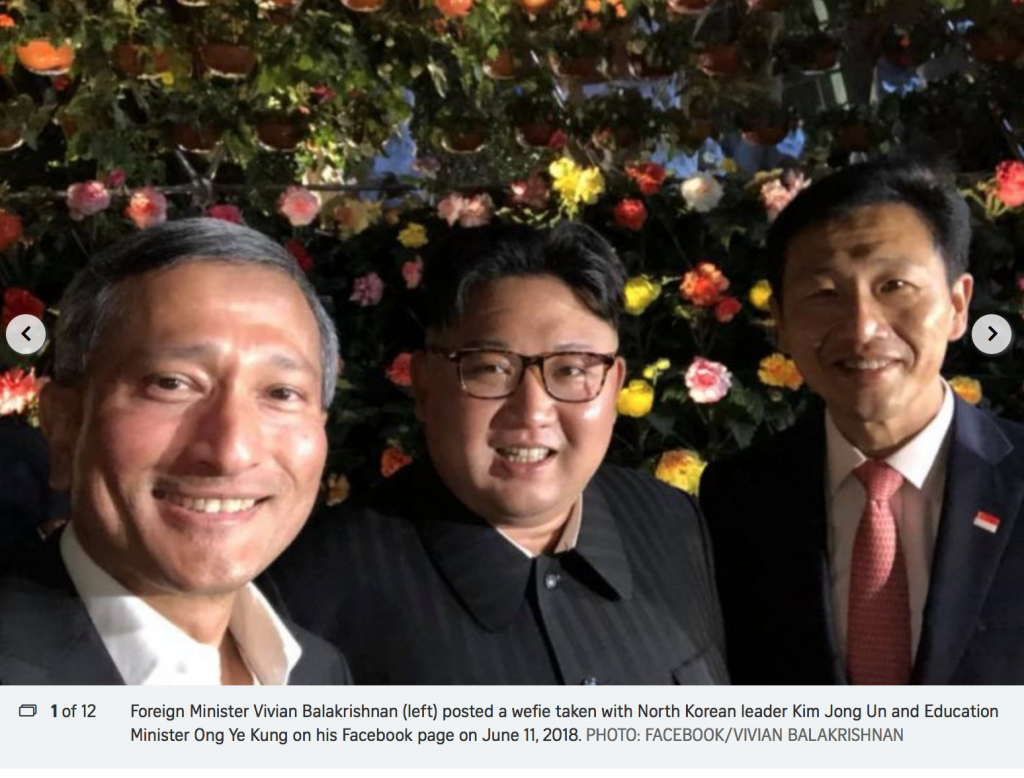 Kim Jong-un besichtigt Singapur am 11.6.18 Foto qanon.pub