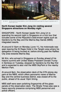 Kim Jong-un besichtigt vor dem Treffen Singapur Foto qanon.pub