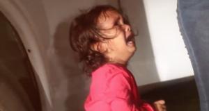 Weinendes Kleinkind aus Honduras