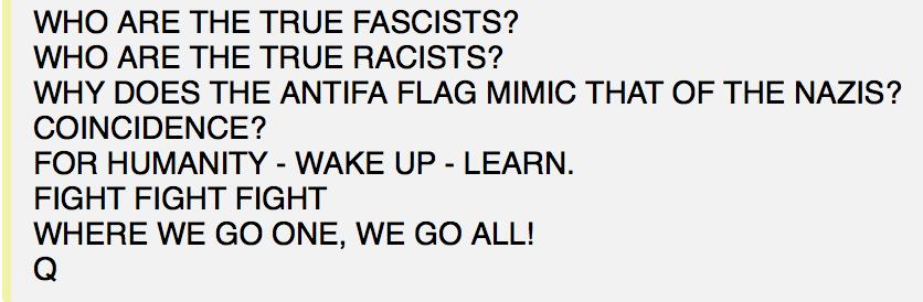 Wer sind die wahren Faschisten und Rassisten? Foto qanon.pub