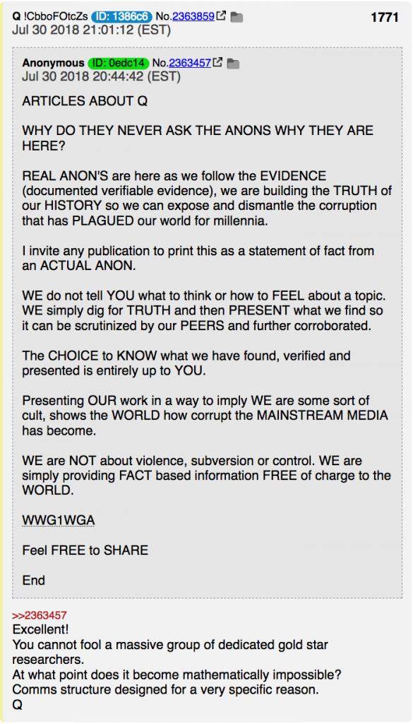 Anon: Warum wir hier sind und mitmachen Foto qanon.pub
