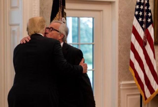 Begrüßung im Weißen Haus Juncker- Trump