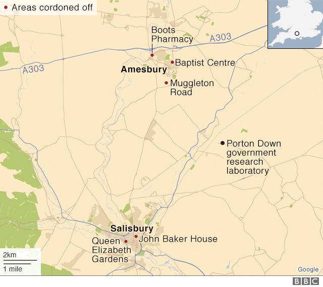 Entfernung des Labors von beiden Fundorten der Opfer