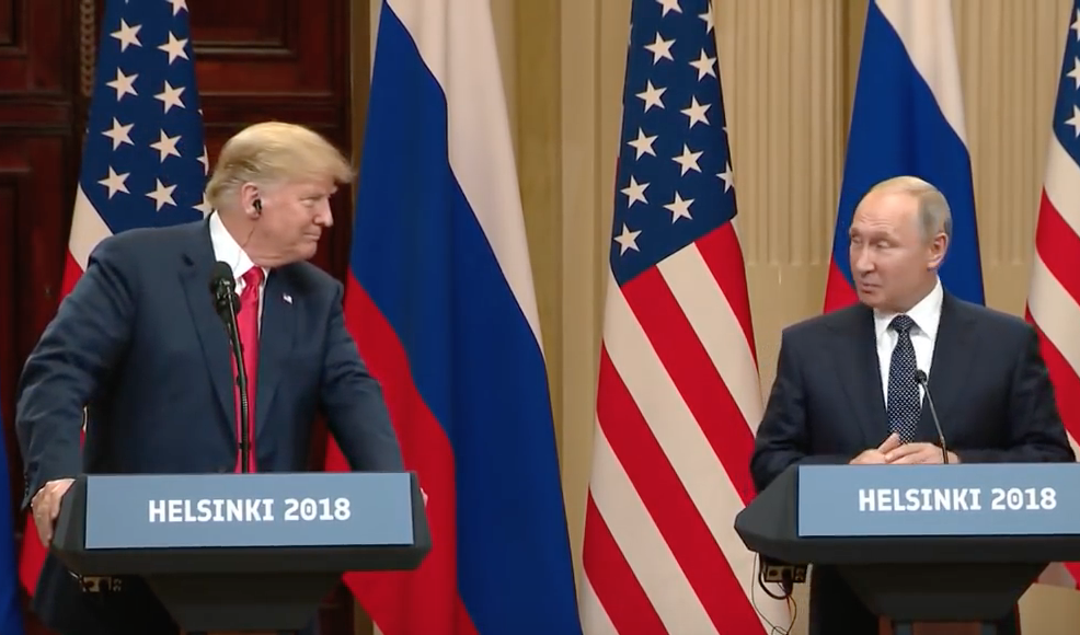 PK in Helsinki - Trump und Putin am 16.7.2018