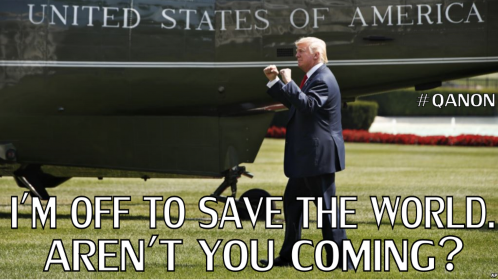 Trump off to save the world. Abflug nach Helsinki Juli 2018