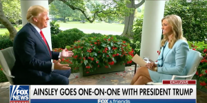 Ainsley Earhardt interviews President Donald Trump