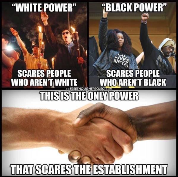 Power has no color MEME