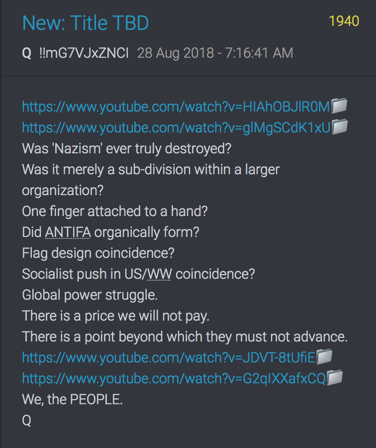 QAnon Drop 28 Aug 18 qmap.pub