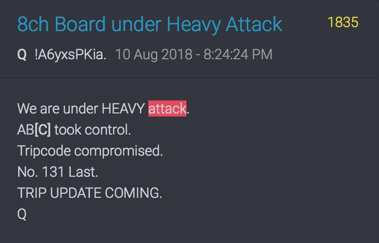 10. August 18 Wir werden schwer attackiert, haben die Kontrolle über das Board verloren