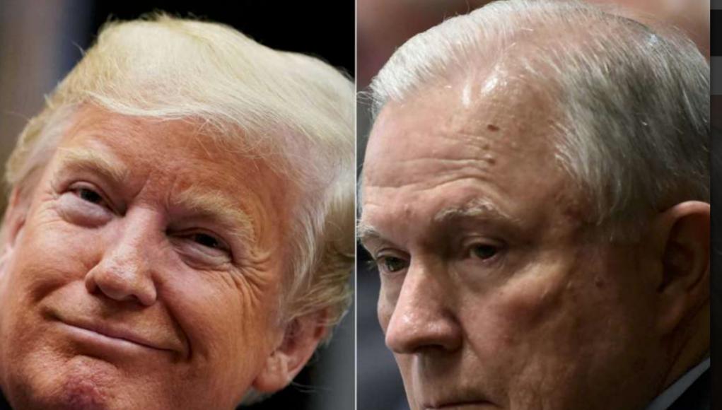 Zwei Akteure? Trump und sein Justizminister Jeff Sessions