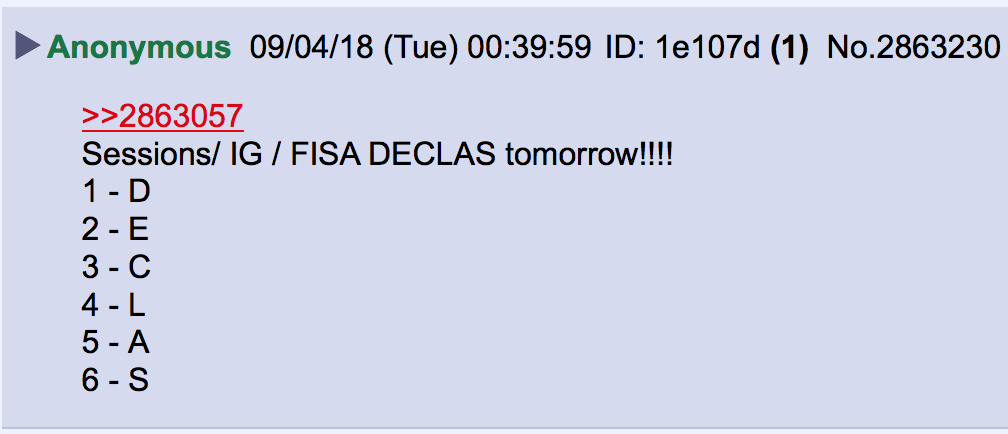 Anon DECLAS tomorrow