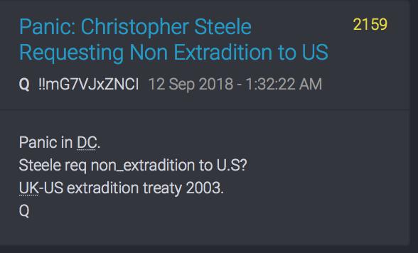 Christopher Steele möchte nicht an die USA ausgeliefert werden