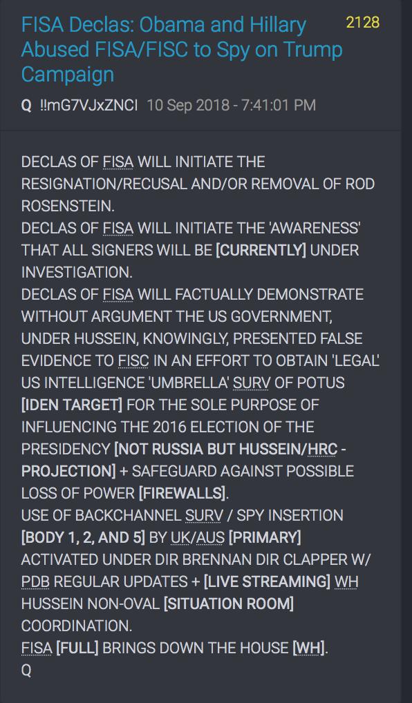 Deklassieren von FISA