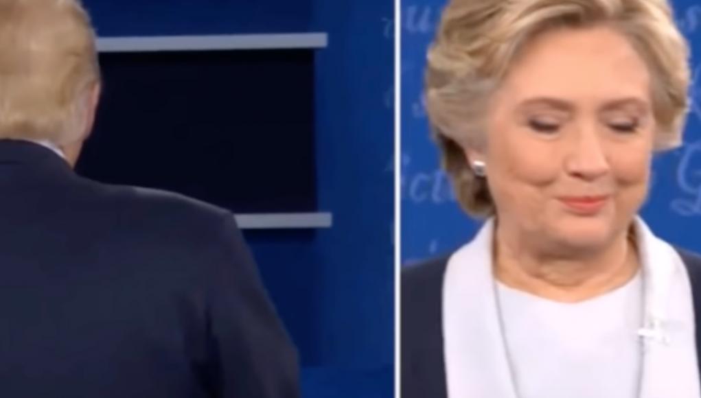 Donald Trum und Hillary Clinton bei ihrer 3. Debatte 2016