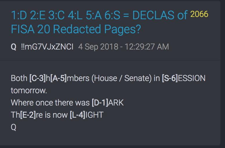 Publikation der 20 fehlenden FISA Seiten?