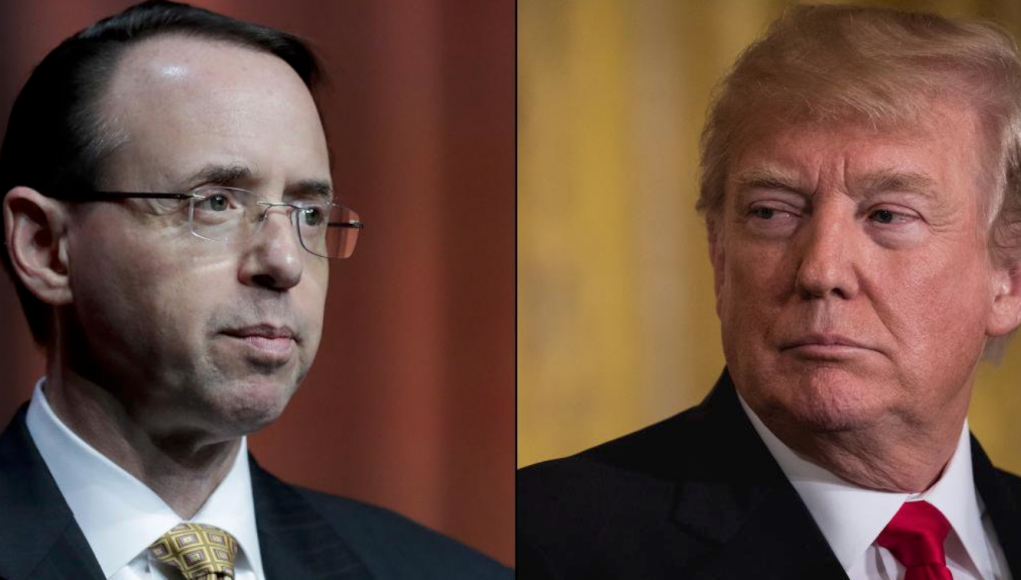 Rod Rosenstein und Donald Trump