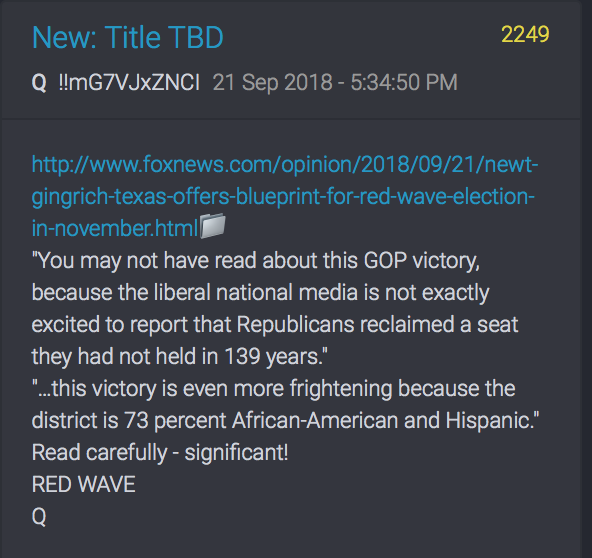 Rote Welle im November erwartet