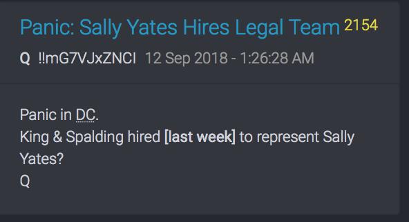 Sally Yates sucht sich einen Anwalt
