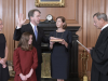 Brett Kavanaugh wird vereidigt als After Senate Confirmation, Judge Brett Kavanaugh worn in as Associate Justice of the Supreme Court of the United States