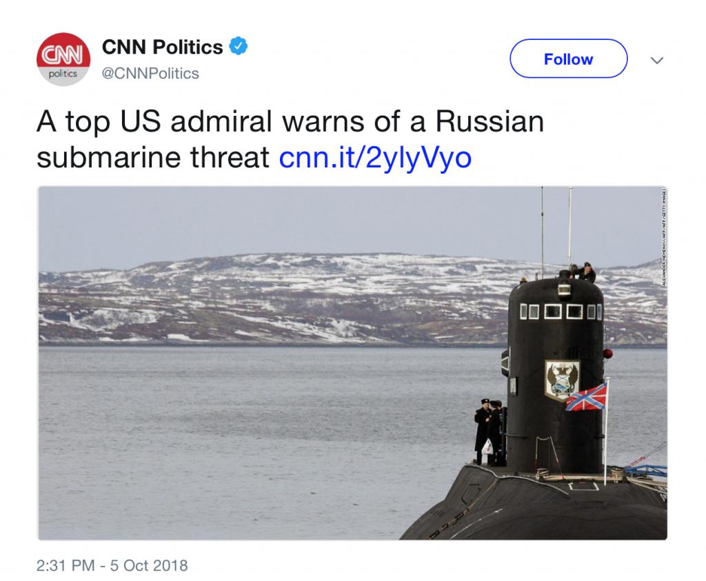 CNN - Russen bedrohen mit Submarine
