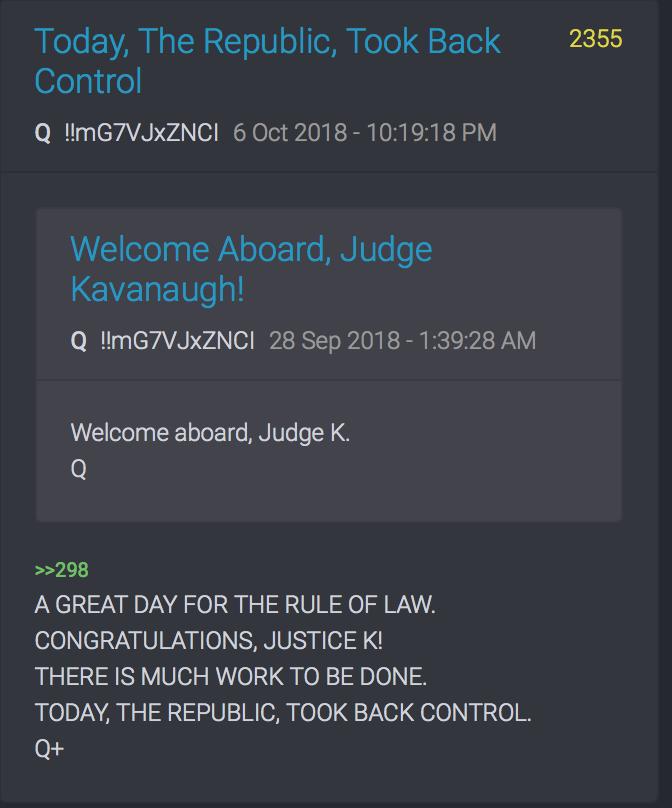 Glückwunsch, Richter Kavanaugh