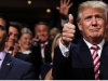 Präsident Donald Trump mit Donald Trump Jr.