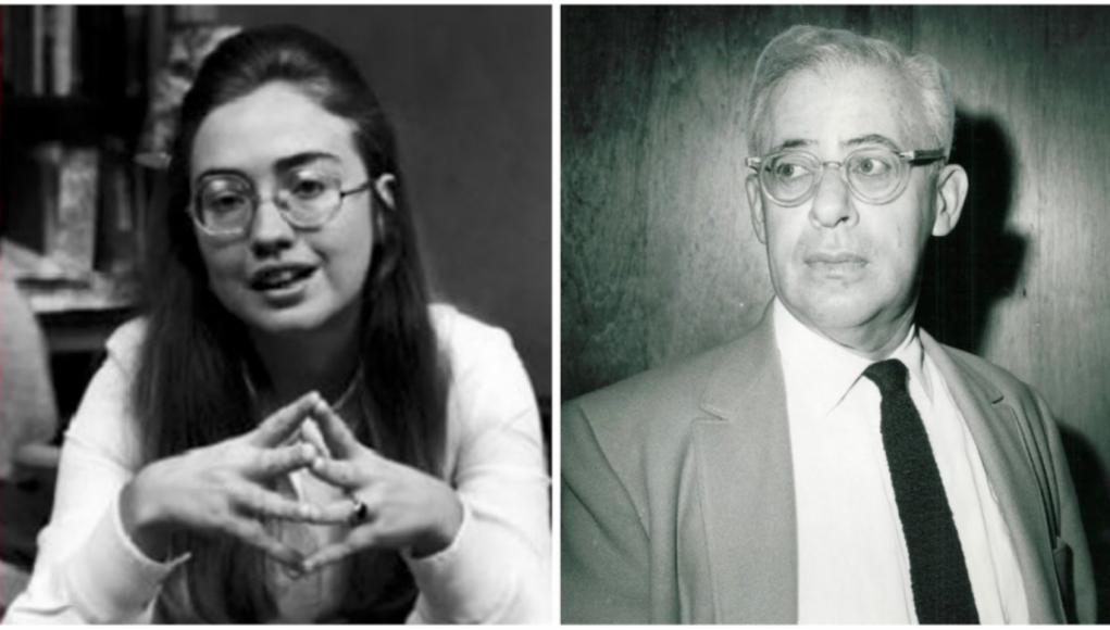 Hillary Rodham und Saul Alinsky