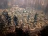 Kalifornien - durch Feuer zerstörte Stadt