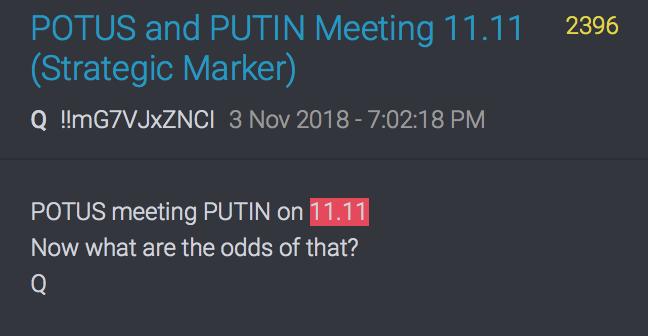 POTUS trifft Putin am 11.11.