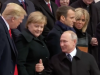 Trump, Merkel, Putin in Paris 2018